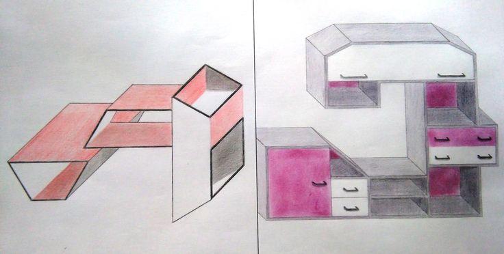 20. Composición: diseño de estanterías.
