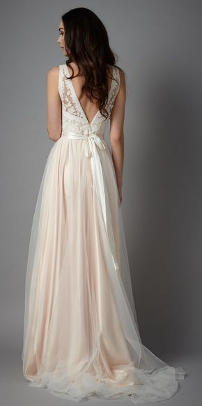 Wedding dress idea; Featured Dress: Catherine Deane