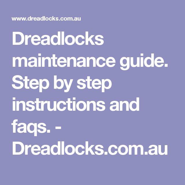 Dreadlocks maintenance guide. Step by step instructions and faqs. - Dreadlocks.com.au