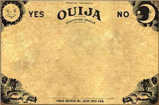 Ouija template to make diy halloween invitations