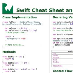 Swift Language: Cheat Sheet and Quick Reference