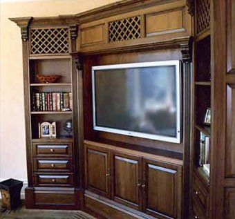 Custom Made Cherry Corner Entertainment Unit
