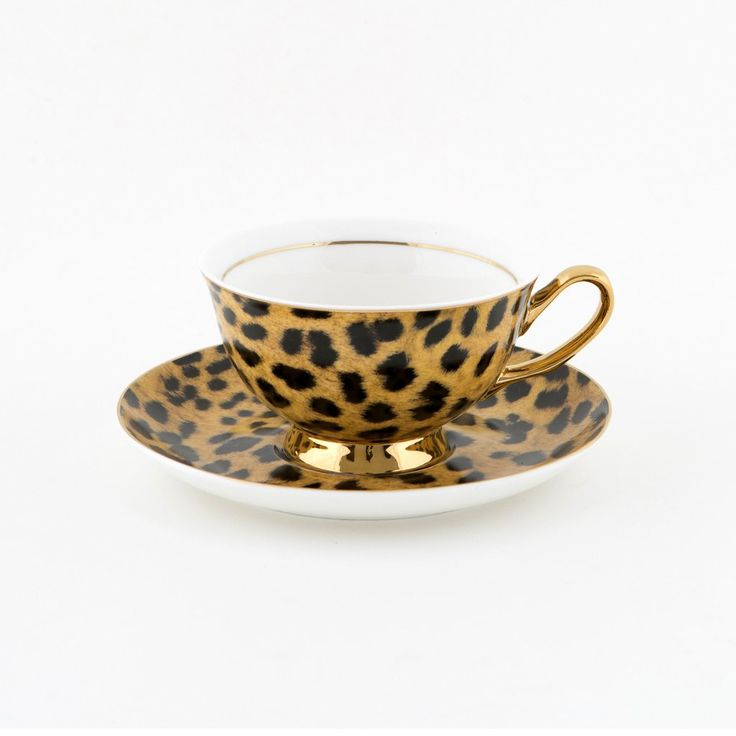 Leopard Print Teacup & Saucer - 250mL