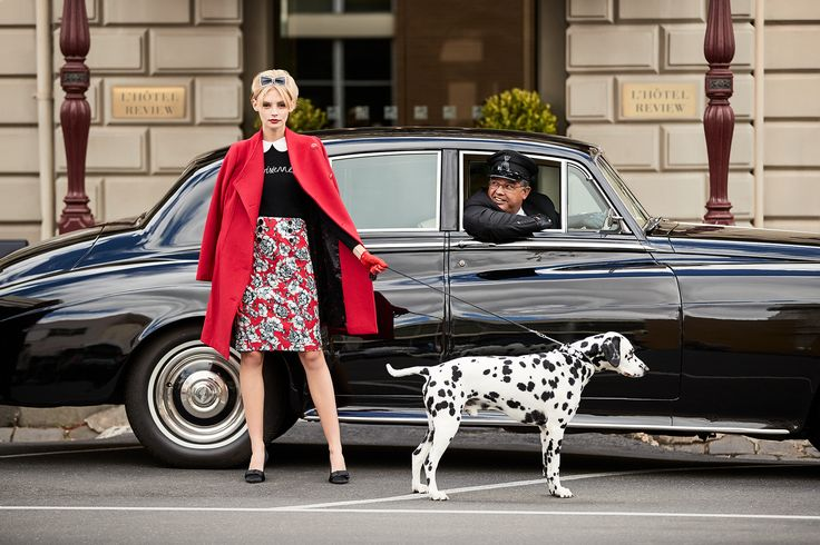 Parisienne Jumper |  House Of Savoy Skirt | Fernanda Coat | Kendra Belt (worn as headband)
