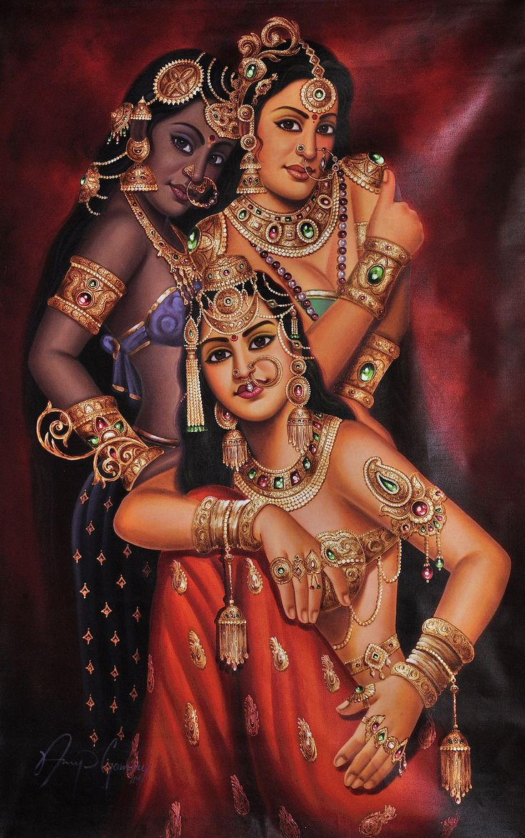 Three beautiful Indian women