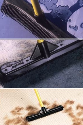 for sweeping up hair on carpet