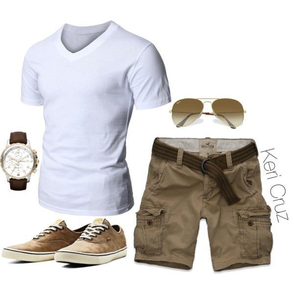 A fashion look from February 2015 featuring Hollister Co., brown watches und ray ban eyewear. Browse and shop related looks.