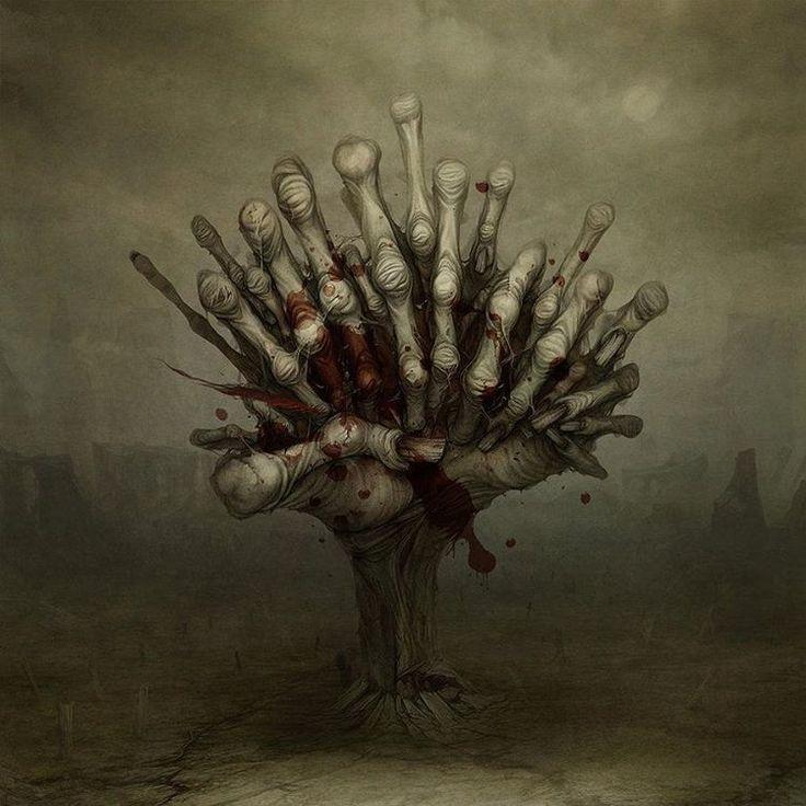 """""""Devil's fingers"""" (Zdzisław Beksiński style) #surreal #Gloom82 #Bratsk #art…"""