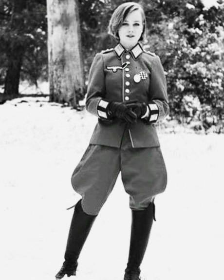 Sad brainwashed Nazi girls.  Rare photo of a rare Nazi bomb, circa 1940