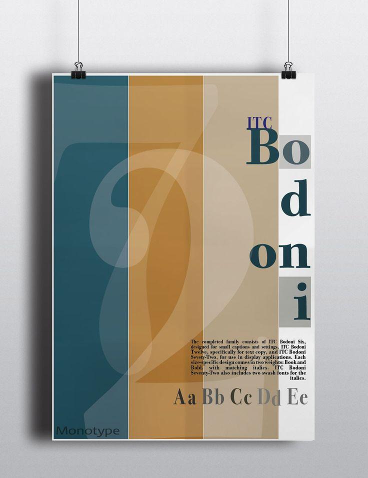 ITC Bodoni; type specimen broadsheet