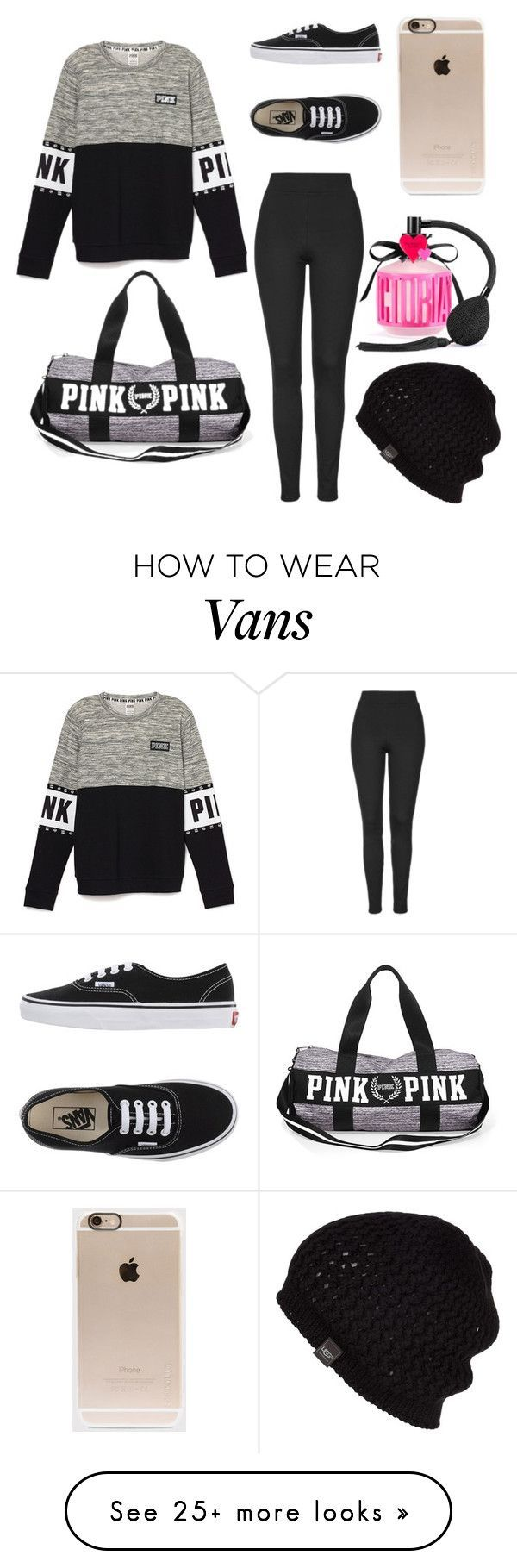 """Pink+Vans"" by perfect25 on Polyvore featuring Vans, Incase, Topshop, Victoria's Secret, UGG Australia, women's clothing, women's fashion, women, female and woman"
