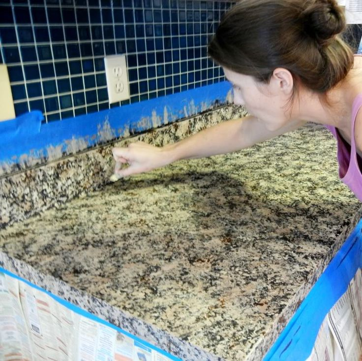 DIY Granite countertops- NO WAY. Also DIY paint cabinets white link on the same page!