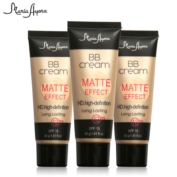 1PCS Professional Ladies Make Up SPF 15 Sun Block Matte BB Cream Natural Long Lasting Face Concealer Makeup Base BB CC Cream