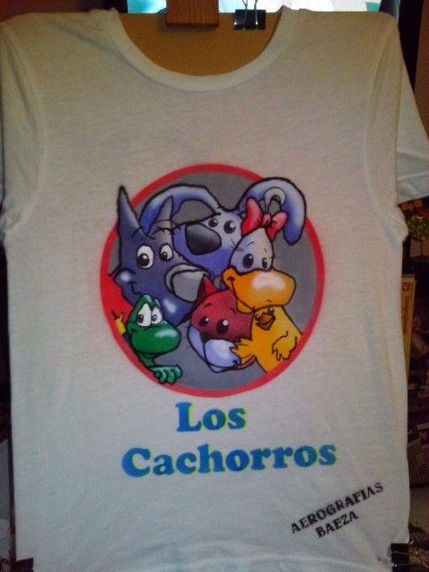 Mi primera camiseta aerografiada.