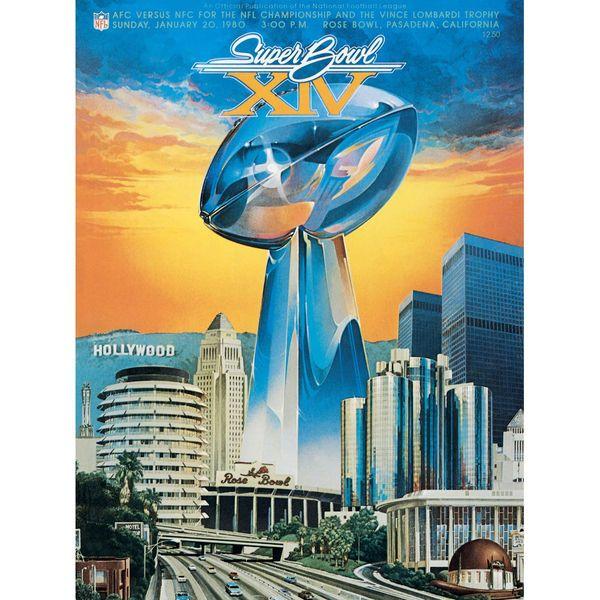 "Fanatics Authentic 1980 Steelers vs. Rams 36"" x 48"" Canvas Super Bowl XIV Program - $199.99"