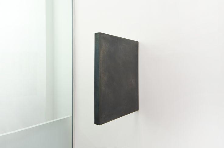 Julia Mangold - O.T. 31.01.02 - 2012 - Waxed steel, 50 x 4 x 45 cm