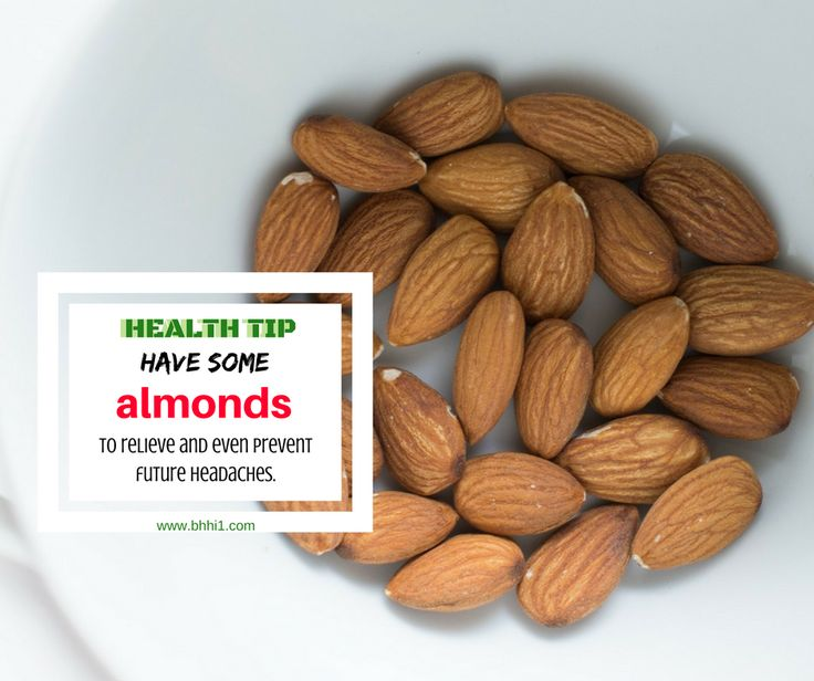Did you know that almonds are rich in salicin, an anti-inflammatory agent that relieves pain and is a common ingredient in aspirin and other over-the-counter pain reliever pills? Some people may consider almond as migraine trigger. But for others, its magnesium content aids in relieving and preventing migraines related to magnesium deficiency. Magnesium can also relax muscles and decrease nerve excitability, which means eating almonds is also good for tension headache. #IHaveHeadache…