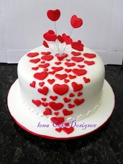 Engagement Cake - Corações para noivado