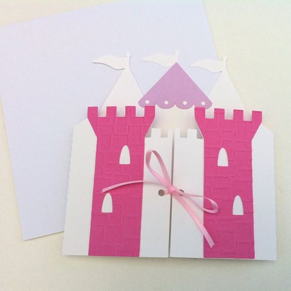 Princess Castle Invitation folders. Princess by MyPaperPlanet