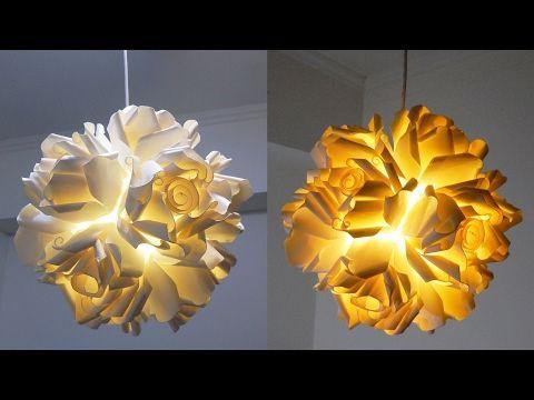 Create This DIY Rose Pendant Lamp From Paper Cups   CONTEMPORIST