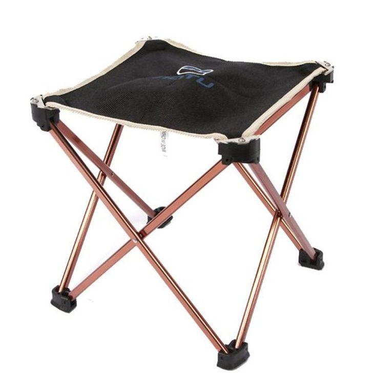 LEERYA Aotu Outdoor Folding Fold Aluminum Chair Stool Seat Fishing Camping ** See this great image  : Camping Furniture