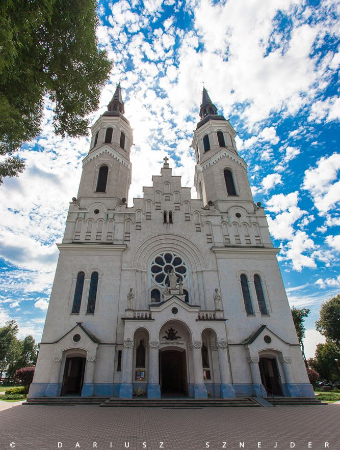 Basilica of the Sacred Heart of Jesus in Augustow, Poland