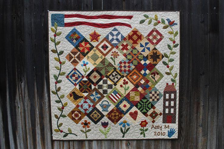Saltbox sampler under the garden moon quilt inspiration samplers pinterest sampler for Under the garden moon