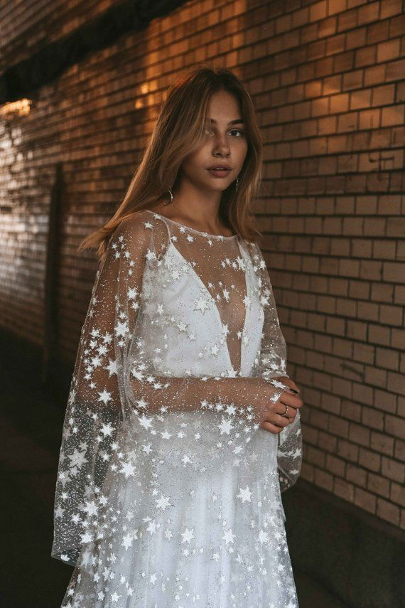 NEW and Exclusive!! Counting Stars Wedding Dress. Unique Celestial Bohemian Wedding Gown 2019 by Boom Blush