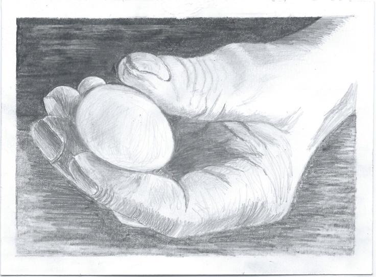 Preparatory drawing of hand