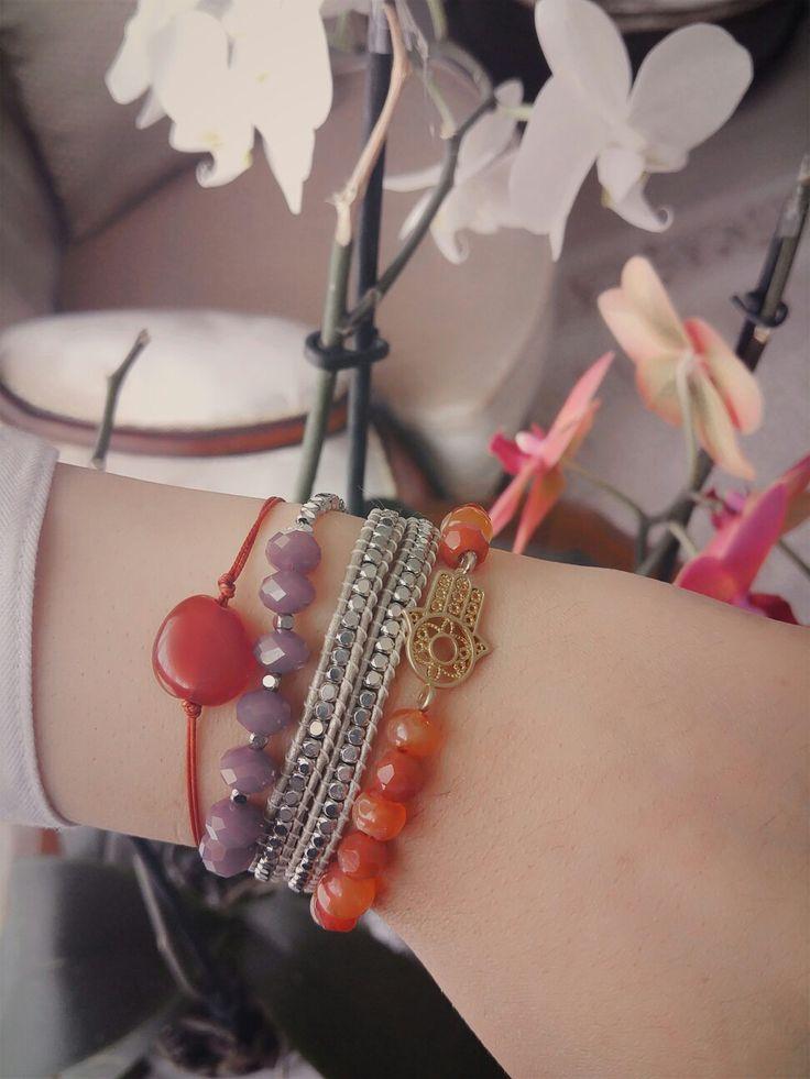 Hepsi el emeğim :* #takı #bileklik #fashion #doğaltaş #chanluubracelet #akik Chan Luu Bracelet