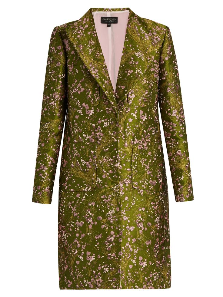 Floral-jacquard single-breasted coat | Giambattista Valli | MATCHESFASHION.COM US