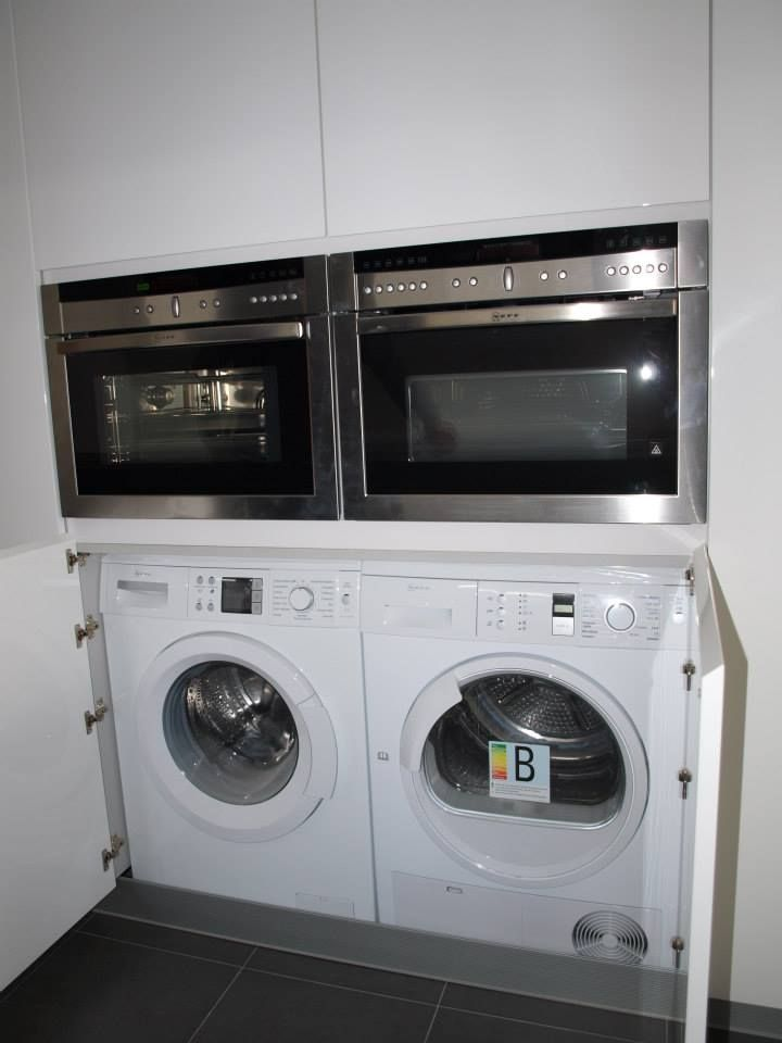 Mejores 32 im genes de lavadora y secadora en la cocina en for Mueble lavadora secadora