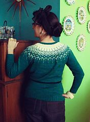 """Ravelry: 116-1 a - Jacket in """"Alpaca"""" and """"Glitter"""" with 2-colour pattern in raglan pattern by DROPS design"""