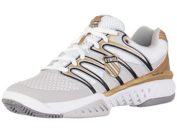 k swiss black white and gold tennis shoe all nike s