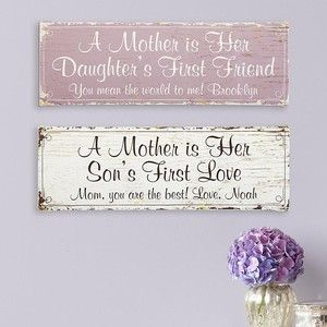 Sweet canvas is a great First Mother's Day gift!