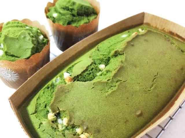 抹茶米粉パウンドケーキの画像