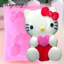 Siliconen Hello Kitty Fondant Mold Sugar Craft Cake Decorating Gereedschap Keuken Bakvormen Hars Klei Zeep Kaars Mallen CT099(China (Mainland))