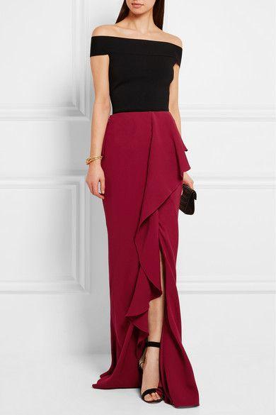 Alexander McQueen | Ruffled silk-crepe maxi skirt | NET-A-PORTER.COM