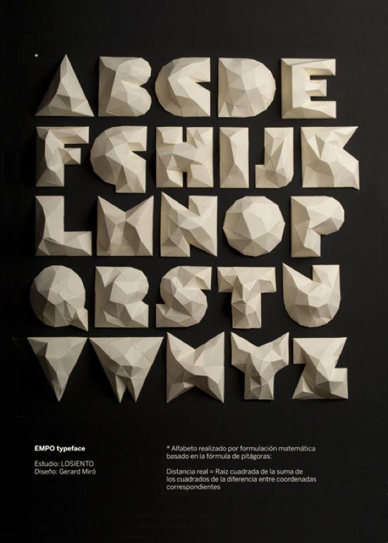 Paper Geometric Alphabet