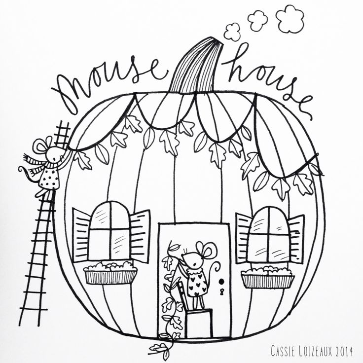 Mouse House. Day 151 of yearlong sketchbook project. Cassie Loizeaux 2014