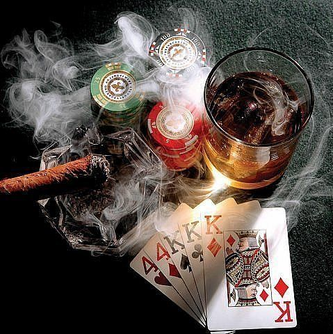 """i was given the phrase, """"games of chance"""" i want to incorporate the smoke, cards and the poker chips into my phrase.....just dont know where to start"""