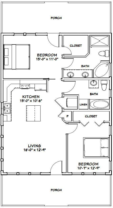 248 best house plan images on pinterest floor plans for 28x36 cabin plans