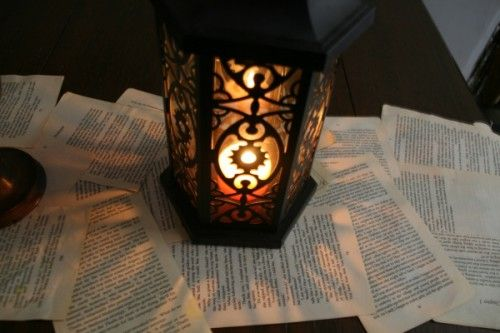 A literary table runner