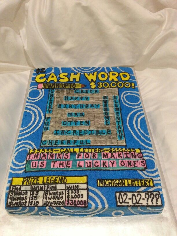 Lottery Ticket Cake Quot Art Of The Cake Quot Pinterest