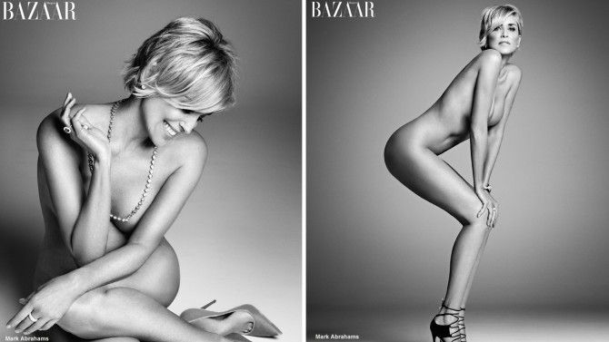 Sharon Stone on Harper's Bazaar