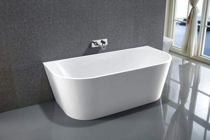 Freistehende Badewanne NOVA Acryl weiß - 170x80cm Badewelt Whirlpool / Badewannen Freistehende Wannen Acryl