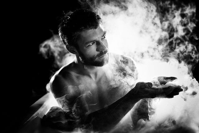 """He Is The Iceman This Day"" From my 'IN THE TUB' Coffee Table Book shoot, with LIAM McINTYRE -  'SPARTACUS'. (Profits to Breast Cancer Research)"