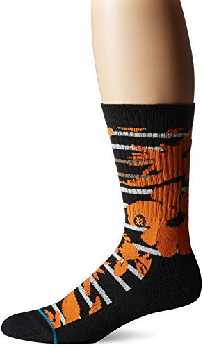 Stance Mens Maui St Nick Hawaiian Print Holiday Arch Support Classic Crew Sock Black L -- You can get additional details at the image link.Note:It is affiliate link to Amazon.