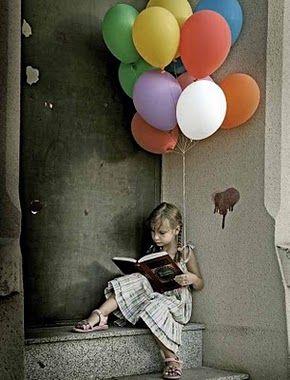 : Balloon Reading, Balloon Globo, Reading, Colors Balloon, Colour Colors, Libros Leer, Ilustracion Libros, Delicious Books, Books To Reading