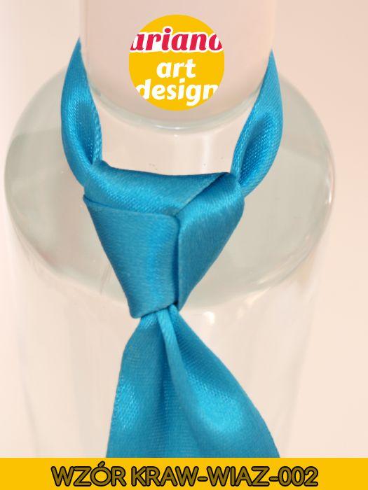 Krawat na butelkę wiązany, wódkę 5 szt zawieszki weselne PL - wzór węzła 002